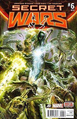 SECRET WARS #6 2015 MARVEL COMICS LOT OF 10X COPIES NEAR MINT or (Best Secret Wars Comics)