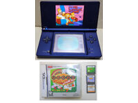 Blue Nintendo DSI console Blue with 3 games Casino Vegas Cats