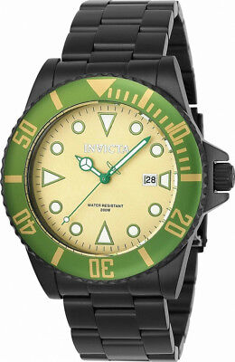 Invicta Pro Diver 90298 Mens Round Olive Analog Date Stainless Steel Watch