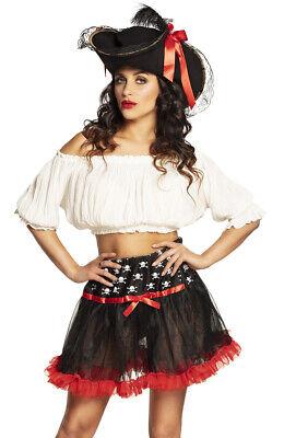 stüm Fasching Karneval Mini Rock Luxus Rock Totenkopf Erotik (Weibliche Piraten Kostüme)