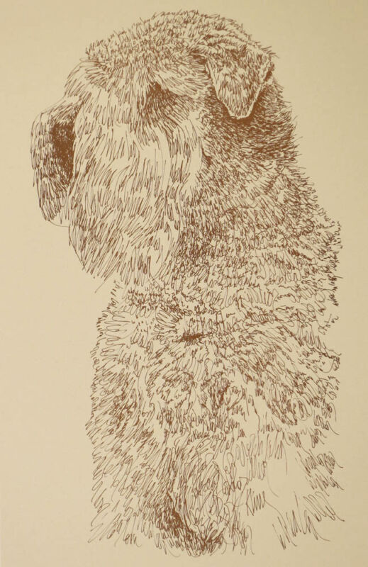 SOFT COATED WHEATEN TERRIER WORD DRAWING 234 Kline adds dogs name free into art.