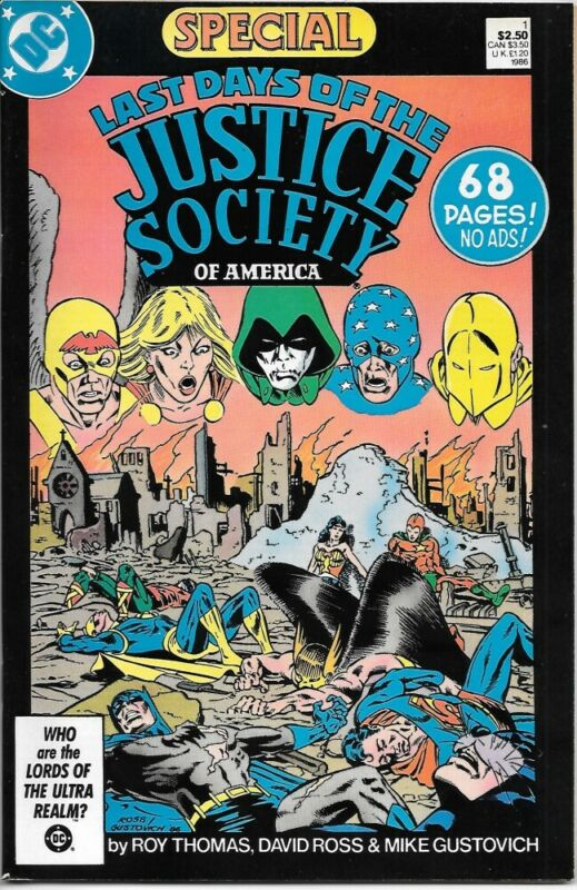 Last days of the Justice Society Special Comic Book #1 DC 1986 NEAR MINT UNREAD