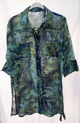 Damen Bluse - Gr. 44/46 - Grün Töne gemischt - Sommer Long Bluse - Fehlkauf online kaufen
