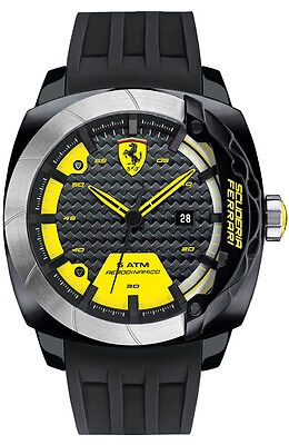 NEW SCUDERIA FERRARI 0830204 MENS AERODINAMICO WATCH - 2 YEARS WARRANTY