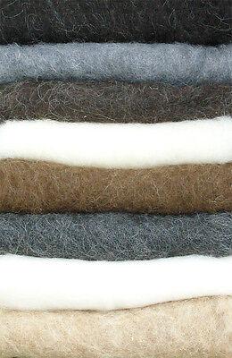 250 g Filzwolle Naturwolle im Vlies filzen u. ZUBEHÖR