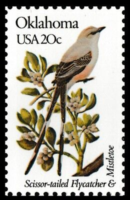 US 1988 or 1988a State Birds & Flowers Oklahoma 20c single MNH 1982
