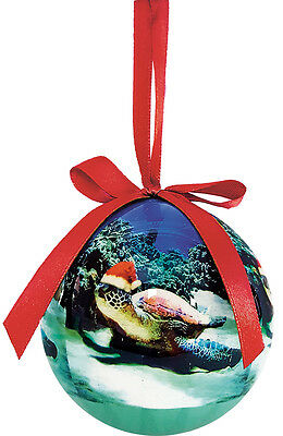 Hawaiian Holiday ORNAMENT - Turtle Santa by Monica & Michael Sweet