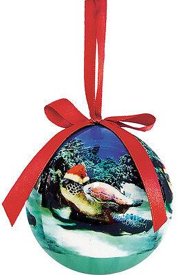 Hawaiian Holiday ORNAMENT - Turtle Santa by Monica & Michael Sweet