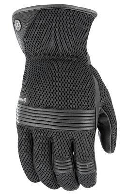 HIGHWAY 21 Men's TURBINE Touchscreen Mesh Riding Gloves (Black) Choose Size