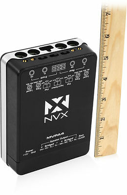 New  Nvx Mvpa4 Micro V 400W Rms 4 Channel Class D Compact Car Amplifier