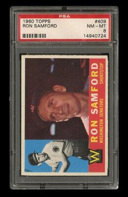 1960 Topps Set Break 409 - Ron Samford PSA 8 NM-MT - $41.00