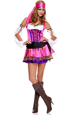 Sexy Adult Halloween Temptress Gypsy Fortune Teller Esmeralda Costume
