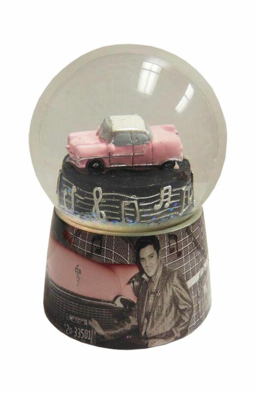 Elvis Presley Pink Car Snowglobe