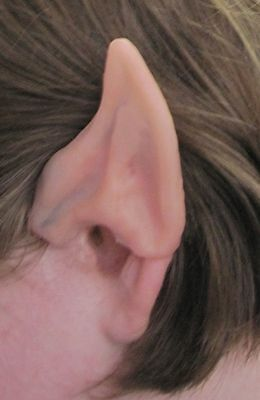 ALIEN ELF POINTED EAR TIPS FAIRY PIXIE HOBBIT SPOCK VULCAN LARP SPACE COSTUME (Elf Ear)