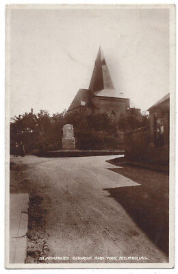 BLACKNESS Church and War Memorial, RP Postcard by Paterson Snell, PO, Blackness