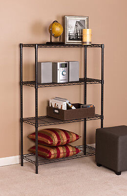 4 Tier 14x 36x 54 Steel Wire Shelf Storage Rack-black Finish