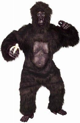 King Kong Fell-Kostüm GORILLA Fasching Karneval Affe Halloween Herren neu