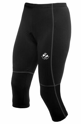 -  Zimco Womens Capri Knicker Cycling 3/4 Tight/Pant Padded Black 1065