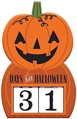 Countdown To Halloween Pumpkin Block Sign