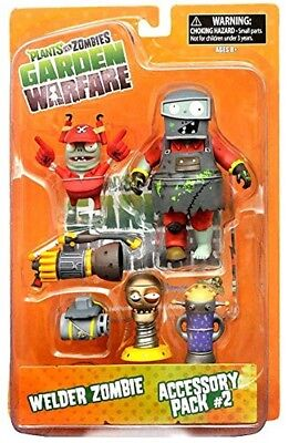 Plants vs. Zombies Garden Warfare Series 2 Welder Zombie & Accessory Pack 2 NEW for sale  Grand Haven