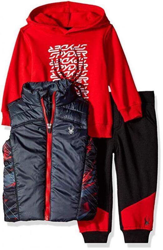 Spyder Boys Red & Black 3pc Jogger Size 2T 3T 4T 4 5 6 7