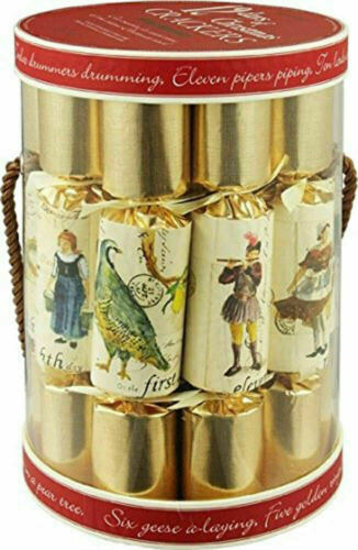 """Robin Reed Christmas Crackers, 12 Days of Christmas Holiday Favors, 12 Pack, 10"""""""