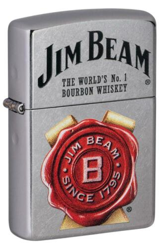 Zippo Windproof Jim Beam Lighter With Bourbon Whiskey Design, 49326, New In Box