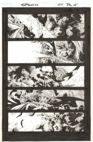Spawn #154 p.15 - Crazy Action - 2006 art by Philip Tan