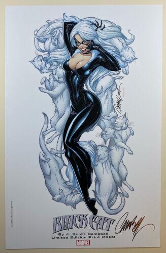 "J SCOTT CAMPBELL signed SUPERIOR SPIDER-MAN #29 COVER 11"" X 17"" ART PRINT BLACK"
