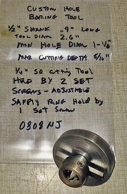 Custom 12 Shank Boring Tool Used W Emco Maximat V10 Lathe 0808nj