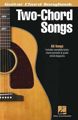 Two-Chord Songs Guitar Chord Songbook Sheet Music NEW 000119236