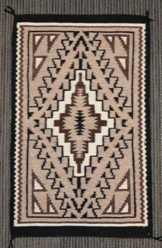 "Very Fine Navajo Rug,  Two Gray Hills  ca. 1990    30"" x 18"""
