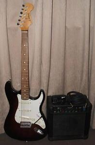 Stratocaster Copy Guitar, Amp, Lead & Fender Guitar Tuner Morley Bayswater Area Preview