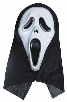 Horror Scream Geister Maske - Halloweenmaske Film Gruselmaske Gespenst Mörder