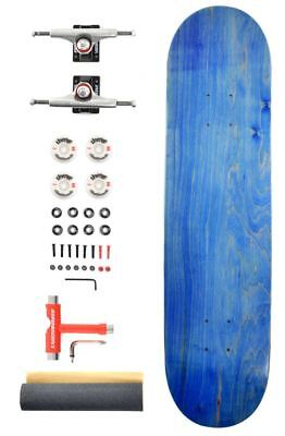 "Venom Pro Skateboard  ABEC 11/52mm Wheels - Blue Deck 7.75""/Raw/Black Trucks"
