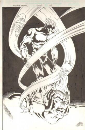 Mutant X Annual #3 p.24 - 100% Splash - 2001 signed art by James Fry