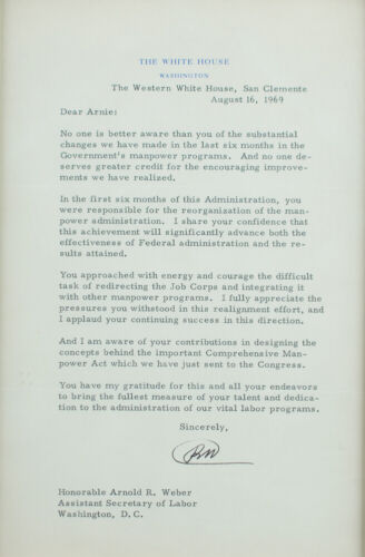 Richard Nixon 1969 Typed Letter Signed as President - The Western White House