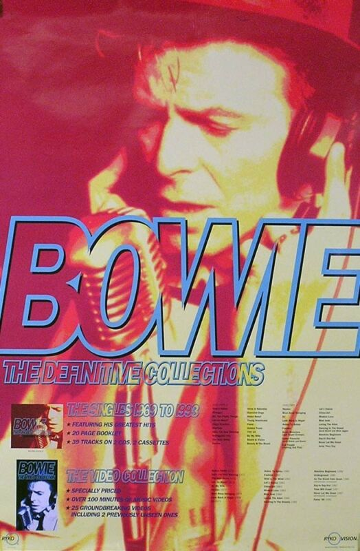 David Bowie 1993 The Definitive Collection Original Promo Poster
