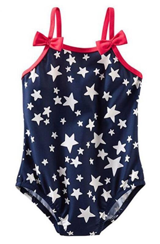 Osh Kosh Infant Girls Navy Stars One Piece Swim Suit Size 3M