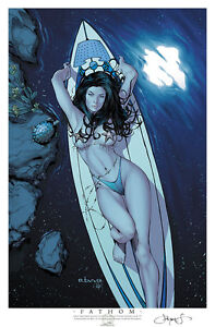 MICHAEL TURNER'S FATHOM #9F EBAS LTD 30 GHOST SHIP COMICS SIGNED PRINT ASPEN