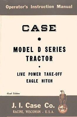Case D Dc Do Tractor Operators Instruction Manual