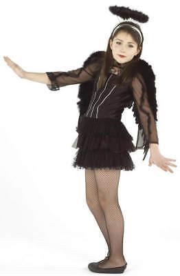 Dark Angel schwarzer Engel Kinder Karneval Fasching Kostüm 128 ()