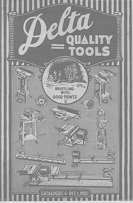 Delta Rockwell  Quality Tools Catalogue G - Oct. 1 1930 Instructions