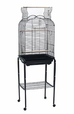 New Open Play Top Small Parrot Parakeet Finch Bird With Stand Cockatiel Cage 597