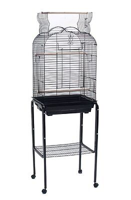 New Open Play Top Small Parrot Parakeet Finch Bird With Stand Cockatiel Cage 555