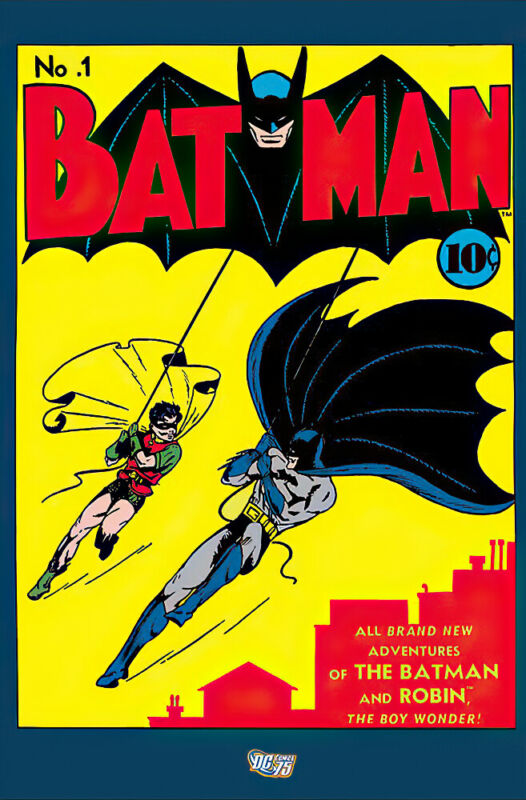 "Batman - Comic Poster / Print (Cover: Issue No. 1) (Size: 24"" X 36"")"