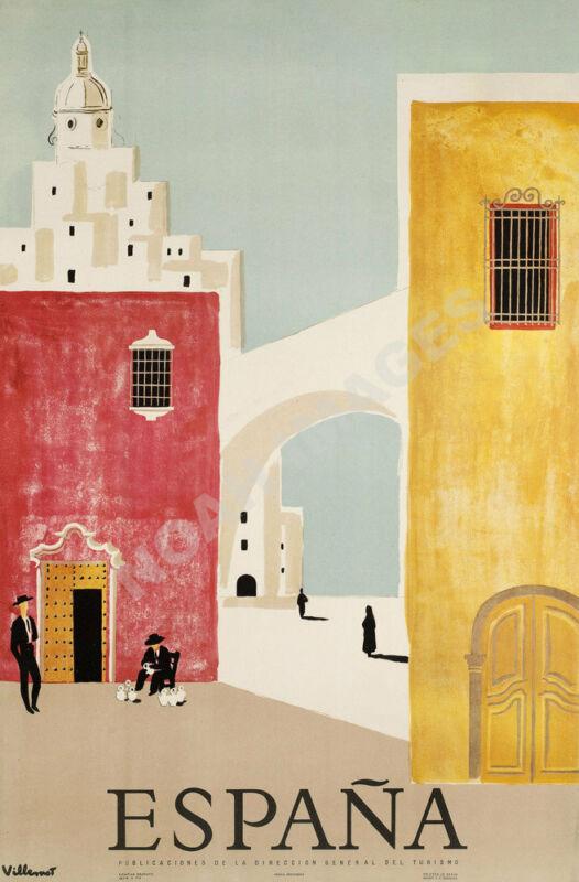 Espana Spain vintage spanish tourism promotion poster repro 16x24