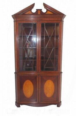Antique Georgian Corner Cabinet Bookcase Circa 1820