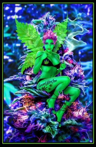 WEED FAIRY - SEXY BLACKLIGHT POSTER - 24X36 - BUDS MARIJUANA 434