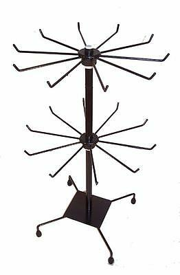 Black 20 In Metal Wire Spin Around Counter Displaying Rack Jewelry Toys Storage